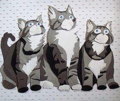 Cat paper art