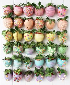 COLORFUL STRAWBERRIES re-pinned by jinsimiya