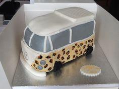 Leopard print campervan cake :)