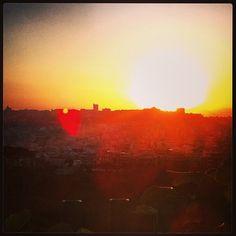 #sunset over #cagliari