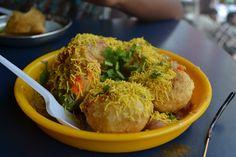 Pani puri North Indian food.