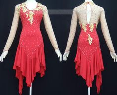 Inexpensive latin dancing clothes,customized latin competition dance wear:LD-SG1