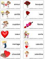 Étiquettes-mots-La Saint-Valentin Valentine Crafts, Valentines, Saint Valentine, Piet Mondrian, Activities, Day, Stage, Learn French, Preschool Classroom