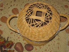 Поделка изделие Плетение Летние плетёночки Мешковина Трубочки бумажные фото 1