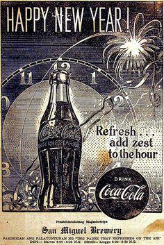 1950 Coca-Cola Happy New Year Phillipines
