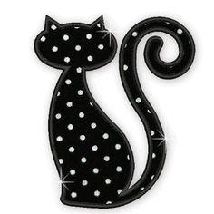 Simpáticos gatitos que se pueden realizar en patchwork.  Usarse en camisetas, vestidos, colchas, cubrecamas, etc.