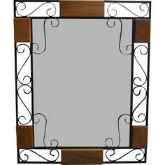 Espelho com madeira e ferro-2762 #arte #moveis #rusticos - www.artemoveisrusticos.com.br