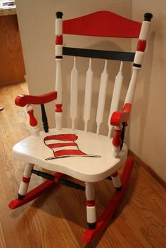 Dr. Seuss Rocking Chair/I think I would paint it in another theme but it's still a cute idea