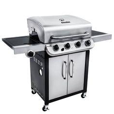 Char-Broil CB 480 48000 BTU 4 Burner w SB, Silver stainless steel