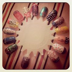Nail Art Designs I did for a birthday party.