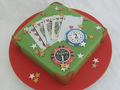 Fantastic poker birthday cake