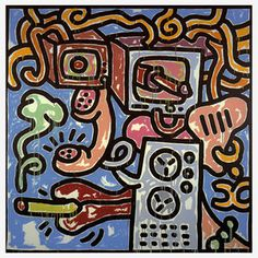 Haring—Media Girl With Cigarette, $160, now featured on Fab.