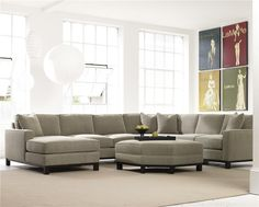 Urban Planning 4 Piece Sectional with Chaise by Precedent - Alison Craig Home Furnishings - Sofa Sectional Naples, Fort Myers, Pelican Bay, Pine Ridge, Bonita Spring, Golden Gate, Estero, Cape Coral, Marco Island, Sanibel/Captiva Island, Point Charlotte, Ave Maria, Florida