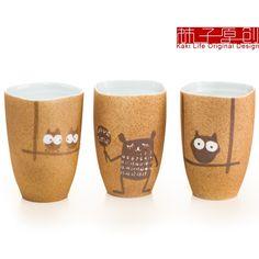 Owl Hand Painted Mug Pinned by www.myowlbarn.com