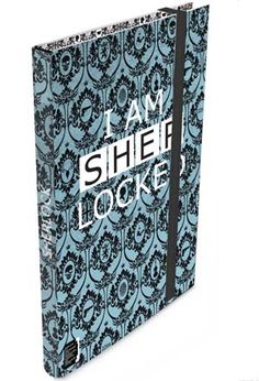 """Though this """"I am Sherlocked"""" journal has no lock, rest assured it provides a safe place for detective work and """"To do"""" lists alike! Covered in a pattern as intricate as the inner workings of Sherlock's mind, this lovely blue book snaps  secrets shut with an elastic strap, while the pages within beckon you to write down or solve the mysteries in your everyday life."""