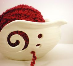 Yarn bowl.....love this!