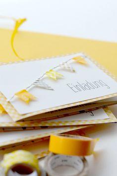 DIY Einladungskarte mit Wimpelgirlande