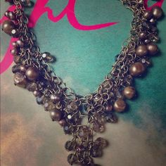 """Crystal pearl necklace Beautiful craftsmanship, great timeless piece for evening wear, is approximately 16"""". Unknown brand, purchased from Nordstrom Free People Jewelry Necklaces"""