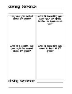 Dear {1st grade, 2nd grade, or 3rd grade} Teachers Writing image 2