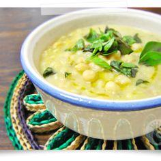 Sopa de grão-de-bico com alecrim