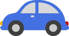 Blue Toy Car Clipart