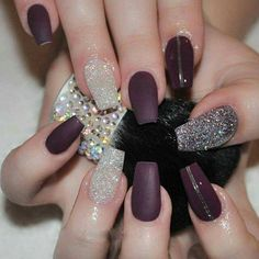 Amazing nail art. Love this color
