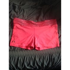 Under armour compression shorts Neon pink. Colors brighter than photo. Worn before! Under Armour Shorts