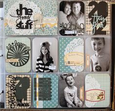 Gorgeous Project Life cover page by Mandie Pierce Project Life Scrapbook, Project Life Album, Project Life Layouts, Project Life Cards, Project 365, Pocket Scrapbooking, Scrapbooking Layouts, Scrapbook Cards, Scrapbook Photos