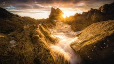 Soaked and Saturated - A long exposure, landscape image of the morning sun…