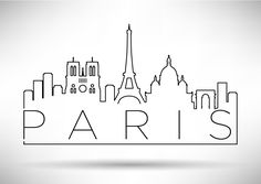 Embroidery Pattern of Paris Skyline. jwt
