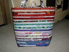 selvage tote by Millie Quilts, via Flickr