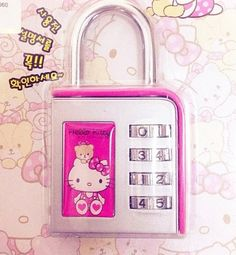 Hello Kitty combination lock
