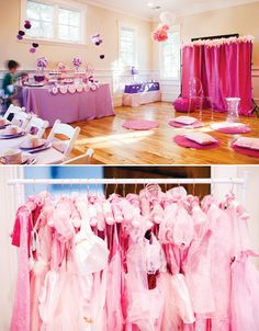 Table decor, decorations, dress up and more - Pink & Purple Princess Birthday Party