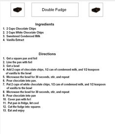 Free Visual Recipe for Double Fudge {hard version} by theautimshelper.com