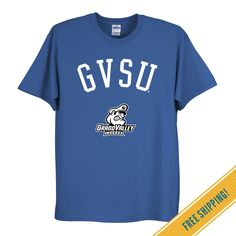 Grand Valley State University Classic Tee in Royal | Fan Gear and Apparel | OCM.com