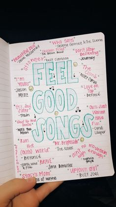 Ultimate List of Bullet Journal Ideas: 101 Inspiring Concepts to Try Today (Part - Simple Life of a Lady Thirsting for more bullet journal ideas? Here's the second installment of Ultimate List of Bullet Journal Ideas! Get your bullet journals ready! The Words, Music Mood, Mood Songs, Upbeat Songs, Good Vibe Songs, Music Life, Pop Music, Live Music, Bullet Journal Ideas Pages