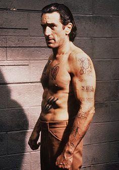 """Robert De Niro as Max Cady in """"Cape Fear"""", Martin Scorsese. Jean Reno, Martin Scorsese, Al Pacino, Fear Tattoo, Movie Stars, Movie Tv, The Godfather Part Ii, Crime Film, Cape Fear"""