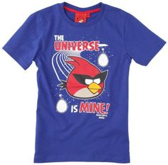 Angry Birds - Camiseta para niño, talla FR : 24 mois (Taille Fabricant : 2) - talla francesa, color bleu (blue #regalo #arte #geek #camiseta