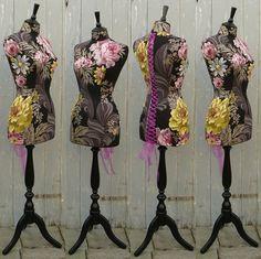 Striking Floral Designers Guild Linen by CorsetLacedMannequin, £204.00