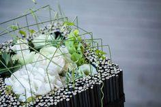 Square floral arrangement by Jasper Wu
