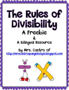 Divisibility Freebie - chart for students to keep track of the different rules and patterns of divisibility.