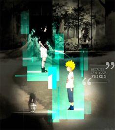 Naruto and Sasuke young #naruto #sasuke. alone but friends