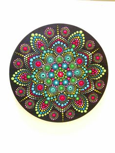 Mandala, acrylic painting, dot arts