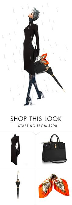 """""""Aaaaahhh....rain"""" by nino-d-f ❤ liked on Polyvore featuring Dolce&Gabbana, Pasotti Ombrelli and Hermès"""