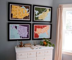 American Atlas prints 16x20 by Brainstorm
