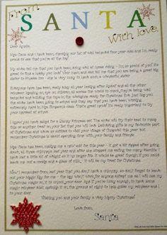 personalis letter, person letter, santa letter