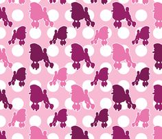 Pink Poodle Polka Dot fabric by robyriker on Spoonflower - custom fabric