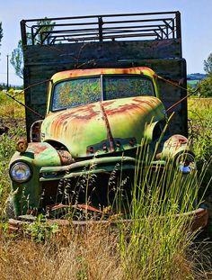 Old Green Truck | Photo by Garry Gay with Pin-It-Button on FineArtAmerica