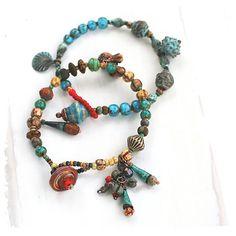 Convertable Bohemian Stacking Bracelets/Necklace - Gypsy Stacking Bracelets or Necklace