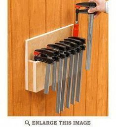 Woodworking Jigsaw Easy-Story Clamp Rack Woodworking Plan
